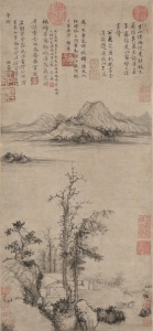 A Scholar's Retreat amidst Autumn Trees, Ming dynasty (1368-1644) Wang Fu (Chinese, 1362-1416)
